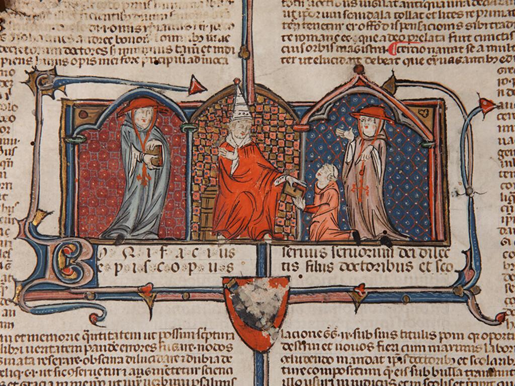 Il manoscritto giuridico miniato