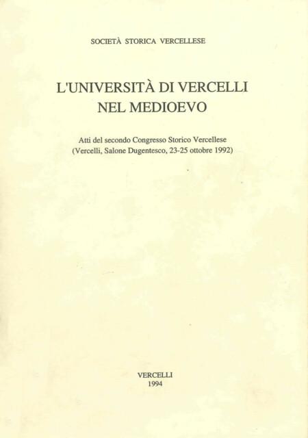 L'Università di Vercelli nel Medioevo